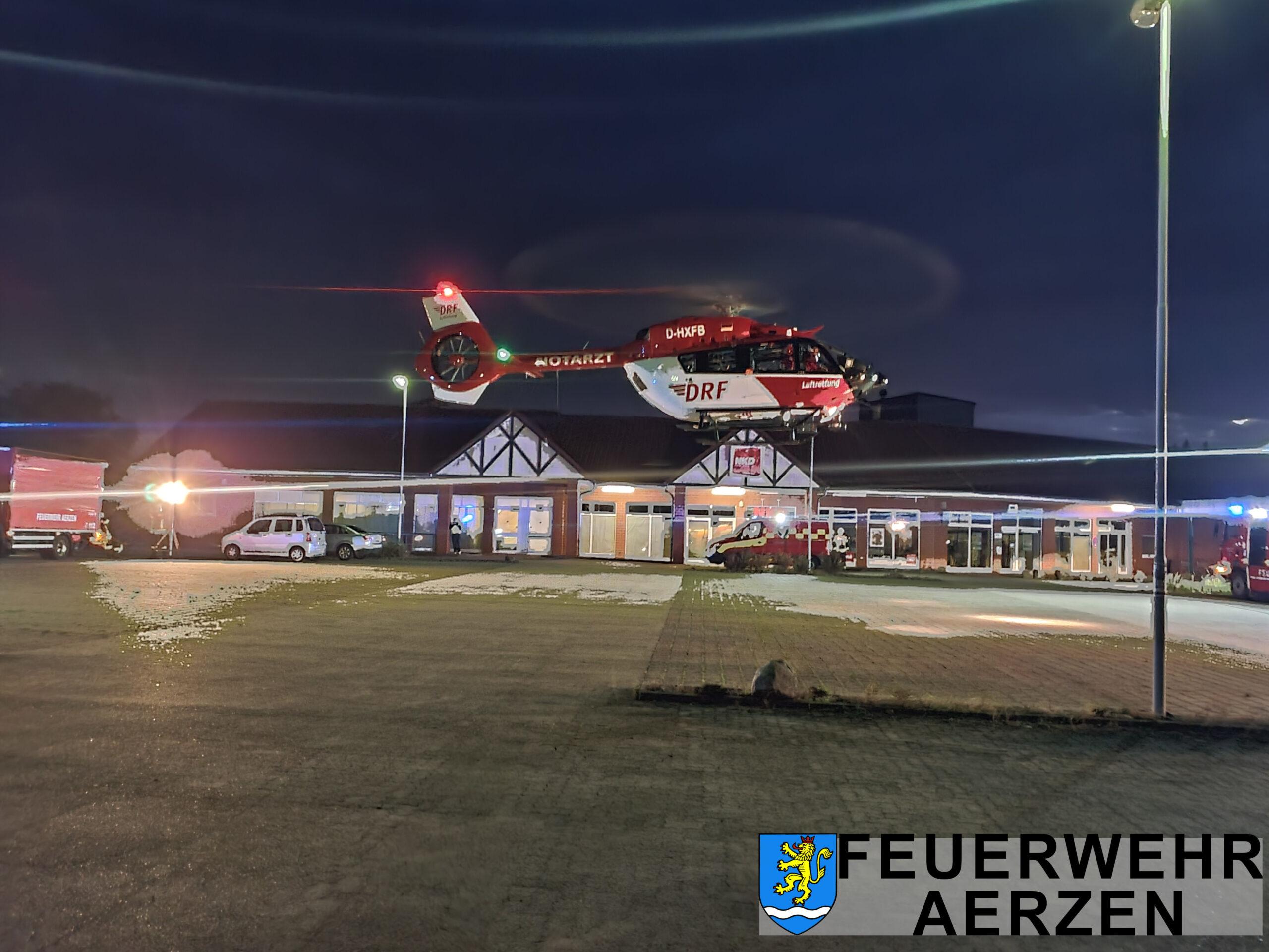 2021-08-30 Großschleife Aerzen TH Alarm Hubschrauberlandung